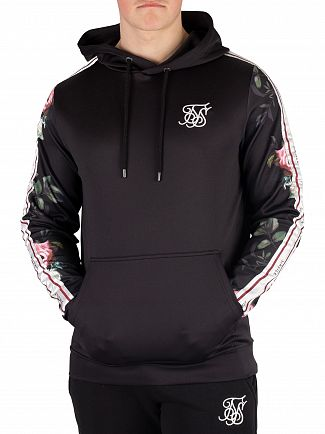 Sik Silk Black Oil Paint Poly Tricot Pullover Hoodie