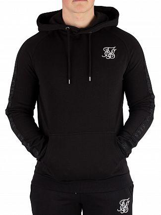 Sik Silk Black Raglan Pullover Hoodie