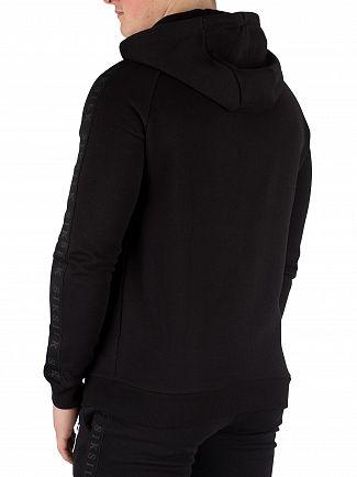 Sik Silk Black Raglan Zip Hoodie