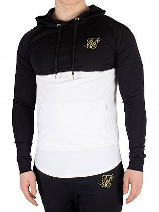 Sik Silk Black/White Zonal Pullover Hoodie