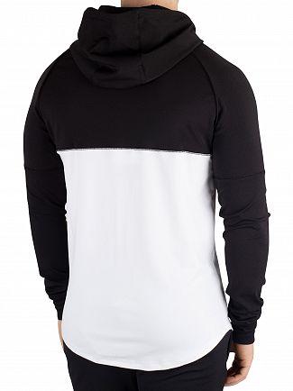Sik Silk Black/White Zonal Zip Track Hoodie