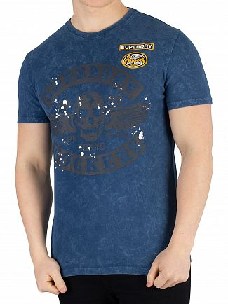 Superdry Skate Navy Black Letter T-Shirt