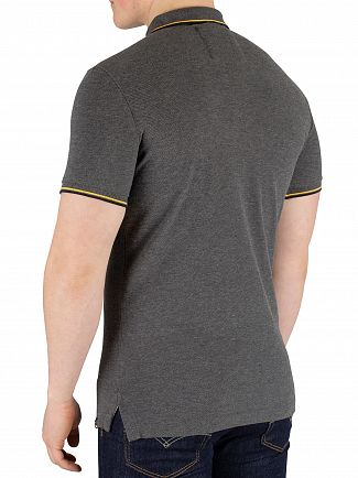 Superdry Black/Grey Marl Classic Poolside Pique Poloshirt