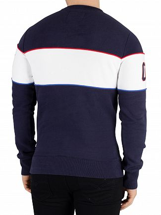 Superdry Navy Retro Stripe Sweatshirt