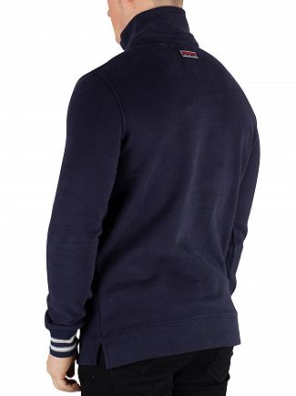 Superdry True Royal Navy Smart Applique Henley Track Top