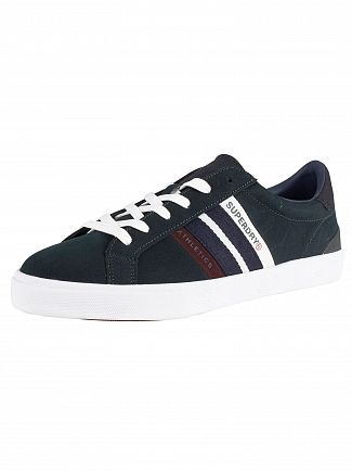 Superdry Highland Green/Navy/Port Vintage Court Trainers