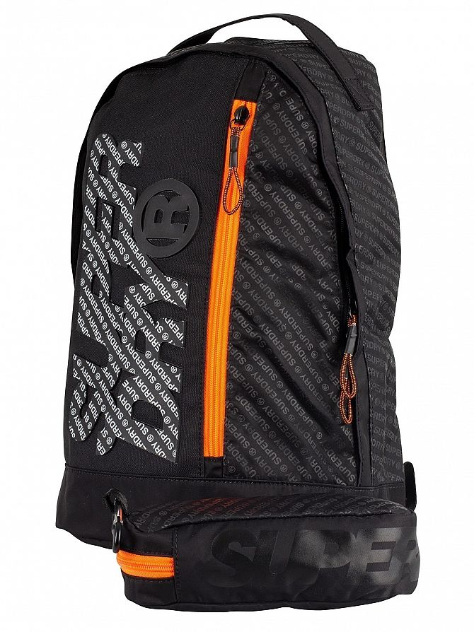 Superdry Black Zac Freshman Backpack and Pencil Case