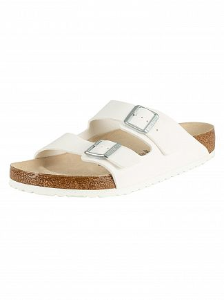 Birkenstock White Arizona BS Sandals