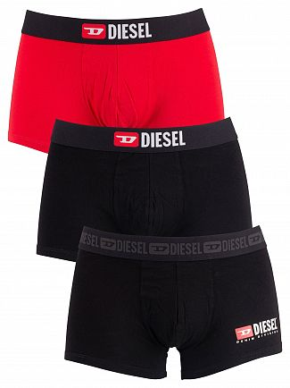 Diesel Black/Navy/Red 3 Pack Damien Trunks