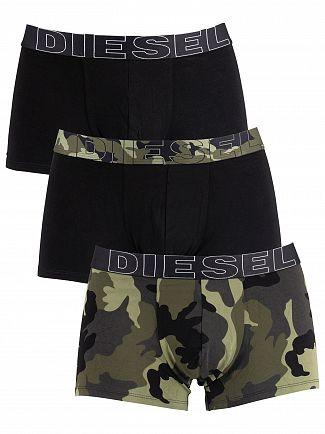 Diesel Camo/Black 3 Pack Damien Trunks