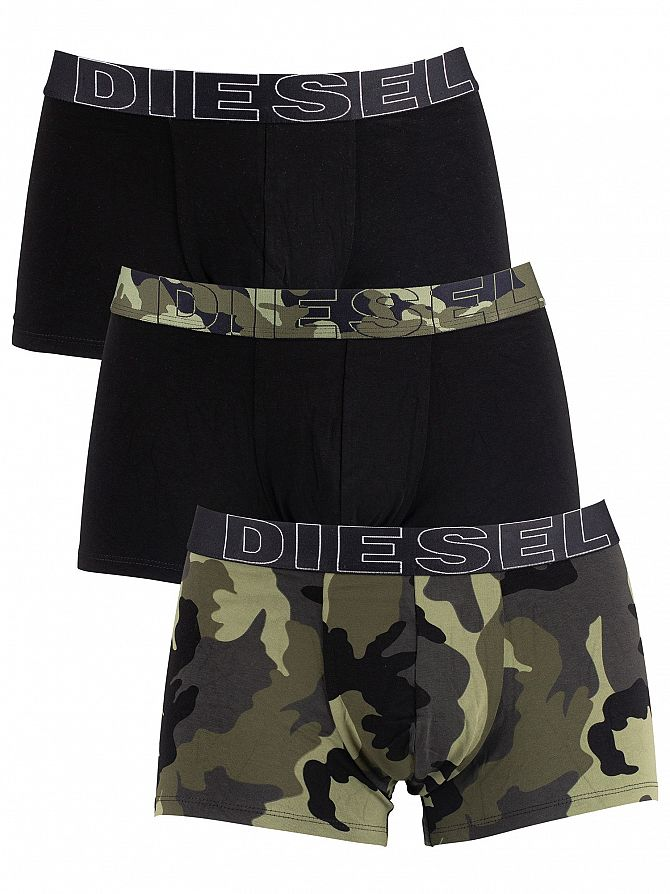 Diesel Camo/Black 3 Pack Damien Trunks