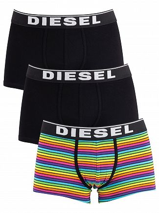Diesel Striped/Black 3 Pack Damien Trunks