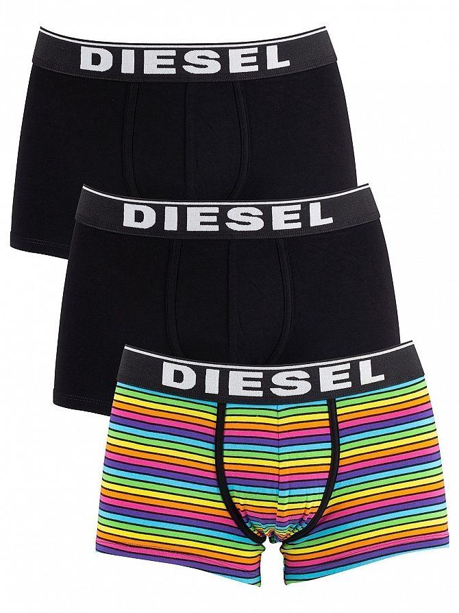 Diesel Striped/Black 3 Pack Damien Trunks