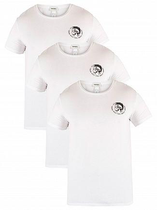 Diesel White 3 Pack Randal T-Shirts