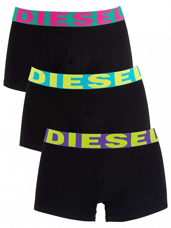 Diesel Black 3 Pack Shawn Trunks