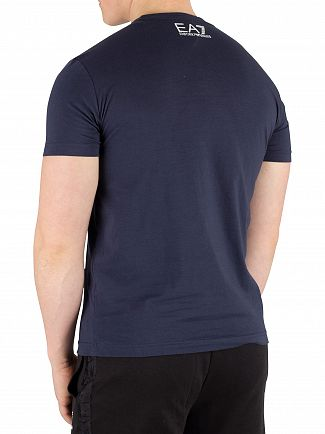 EA7 Navy Blue Graphic T-Shirt