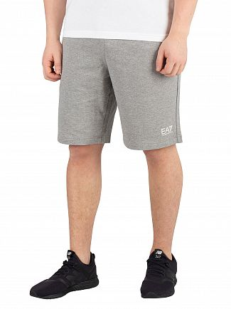EA7 Grey Logo Sweatshorts