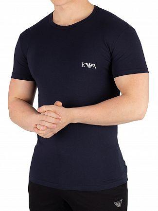 Emporio Armani Red/Marine 2 Pack Crew T-Shirts