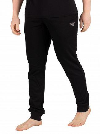 Emporio Armani Black Loungewear Joggers