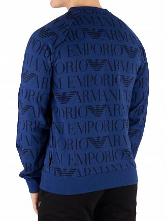 Emporio Armani Printed Bluette Sweatshirt