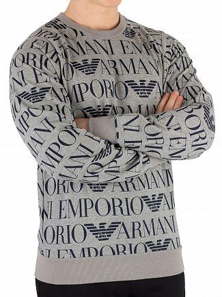 Emporio Armani Printed Grey Sweatshirt