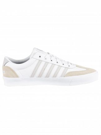 K-Swiss White Addison Leather Trainers
