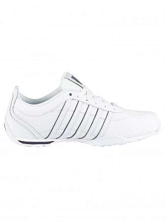 K-Swiss White/Navy/Silver Arvee 1.5 Leather Trainers