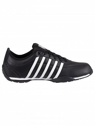 K-Swiss Black/White/Gunmetal Arvee 1.5 Leather Trainers