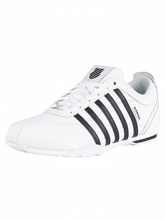 K-Swiss White/Black/White/Silver Arvee 1.5 Leather Trainers