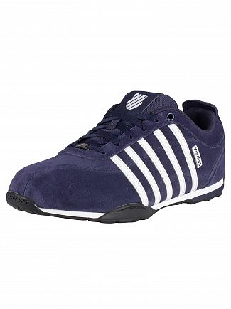 K-Swiss Navy/White/Black/Gunmetal Arvee 1.5 Suede Trainers