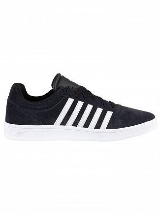 K-Swiss Black/White Court Cheswick Suede Trainers