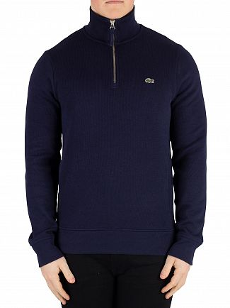 Lacoste Navy 1/4 Zip Jumper