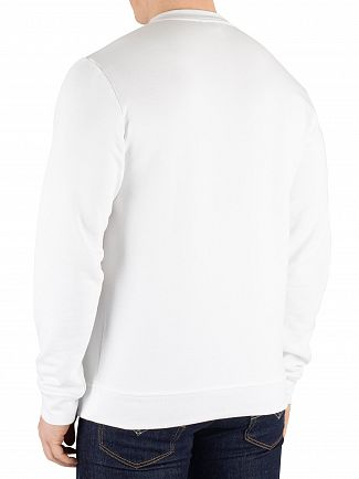 Lacoste White Graphic Sweatshirt