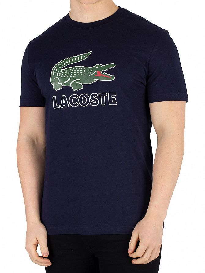 Lacoste Navy Graphic T-Shirt