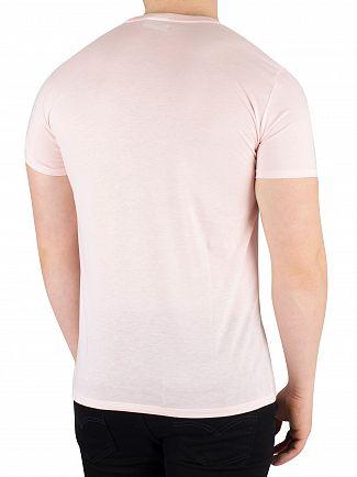 Lacoste Rose Pale Logo Crew T-Shirt
