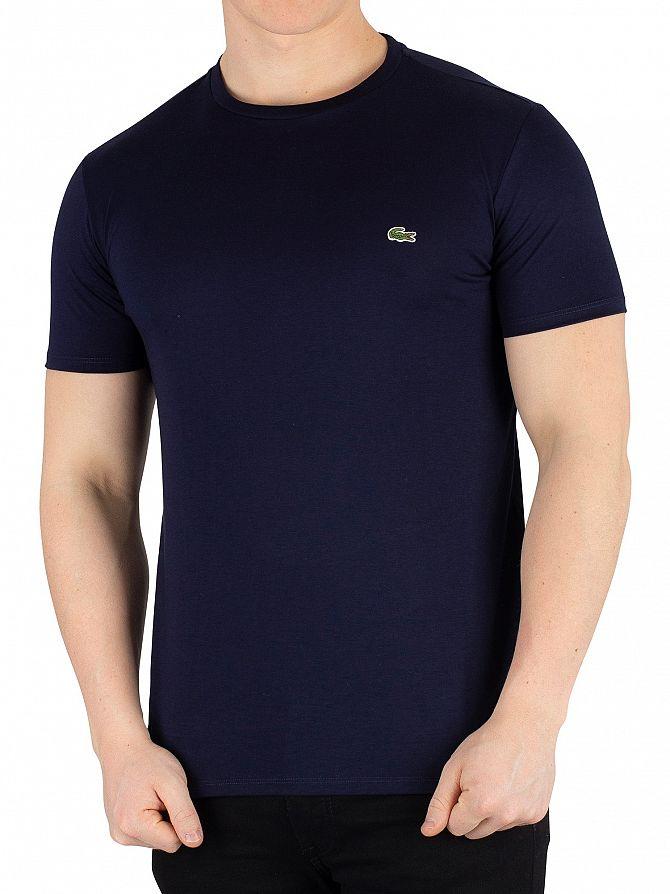 Lacoste Marine Logo Crew T-Shirt