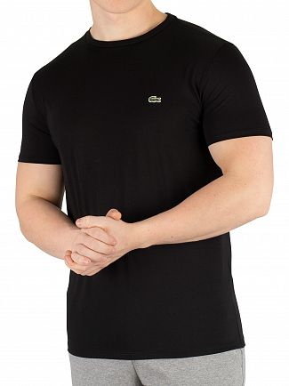 Lacoste Black Logo Crew T-Shirt
