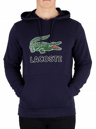 Lacoste Navy Pullover Hoodie