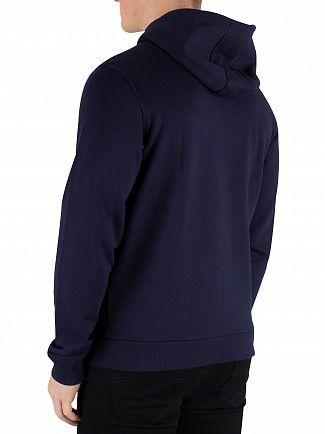 Lacoste Navy Zip Hoodie