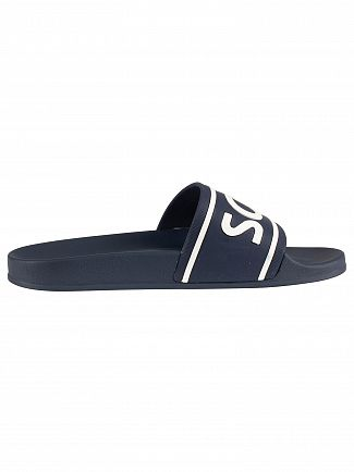 Lyle & Scott Dark Navy Wallace Sliders