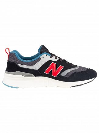 New Balance Black/Red/Grey 997H Suede Trainers