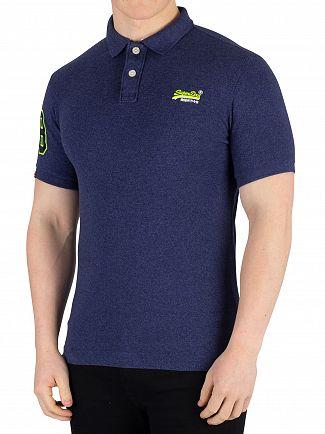 Superdry Storm Blue Grit Classic Pique Poloshirt