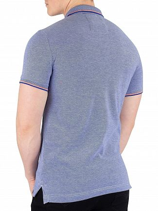 Superdry Cobalt/White Classic Poolside Pique Poloshirt