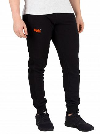 Superdry Black Orange Label Lite Joggers