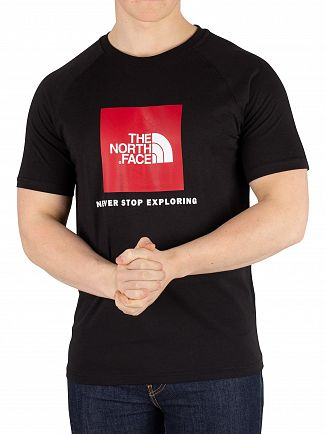 The North Face Black Rag Red Box T-Shirt