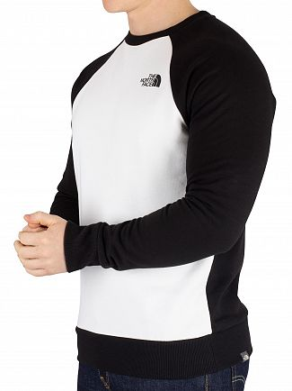 The North Face White Raglan Redbox Sweatshirt
