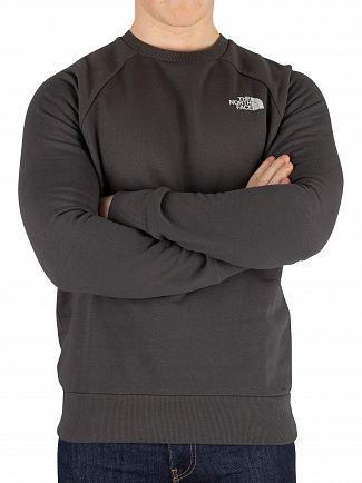 The North Face Asphalt Grey Raglan Redbox Sweatshirt