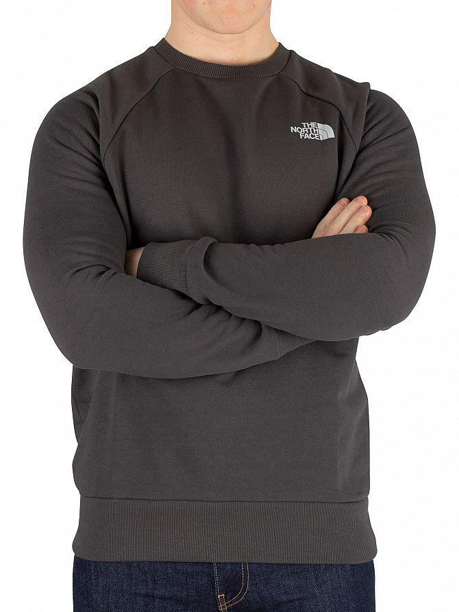 The North Face Asphalt Grey Raglan Redbox Sweatshirt