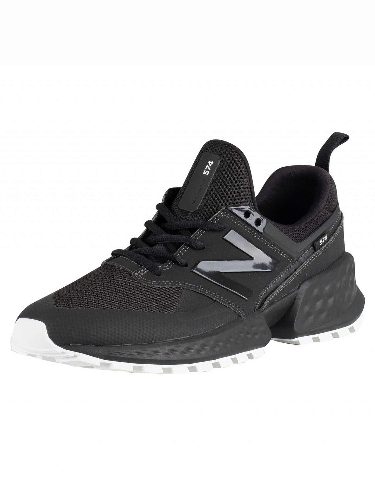 0aecb394a6647 New Balance Black 574 Leather Trainers | Standout