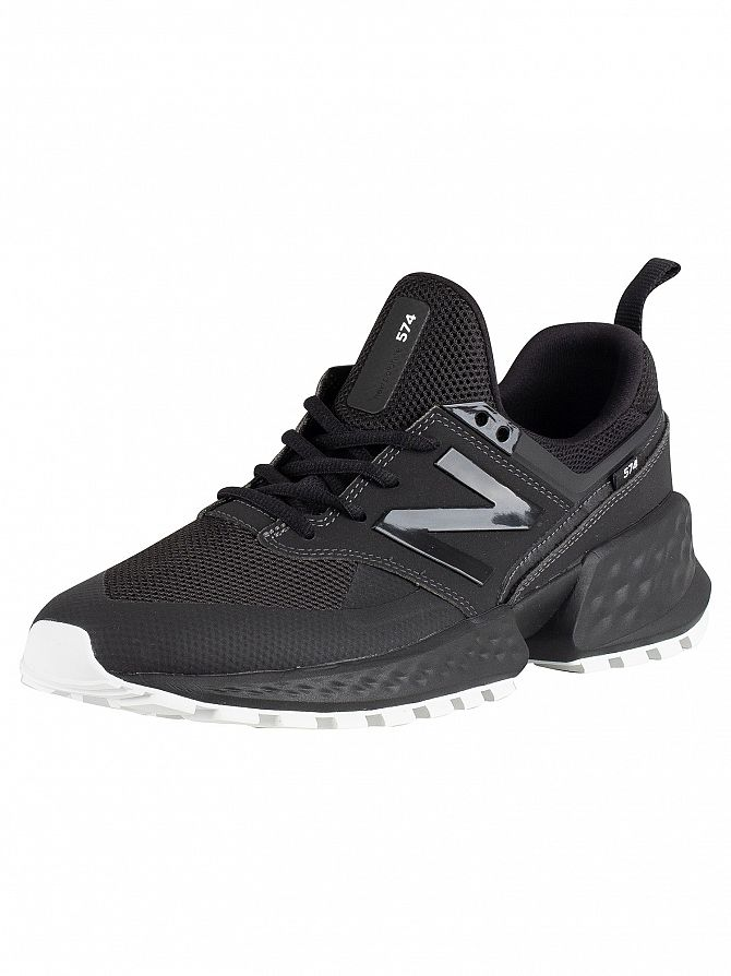 New Balance Black 574 Leather Trainers